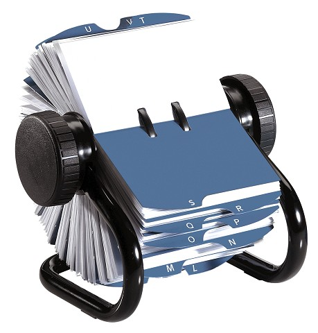 Rolodex SOP67236 Rotary Business Card Holder 400 Card Capacity