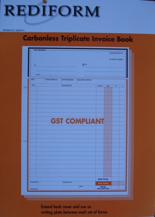 Rediform SRB307 Invoice Book Triplicate Carbonless Pkt5