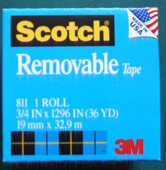 Scotch 811 Removable Tape 19mm x 32.9M Boxed Roll