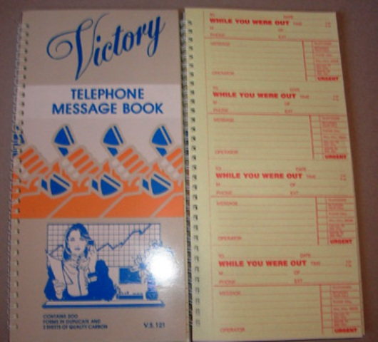 Victory VS121 Telephone Message Book Carbon interleaf 200