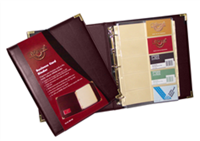 Waterville W80-200 Burgundy A4 Business Card Binder - Free Ship.