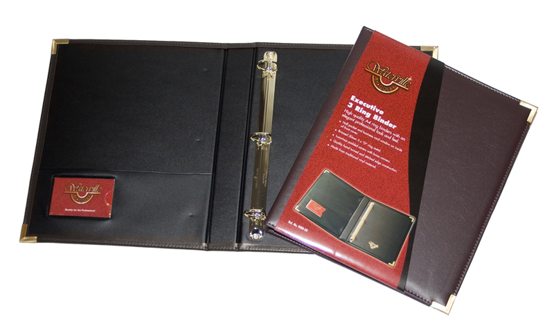 Waterville W80-3D Black Executive Ring Binder - Free Ship.