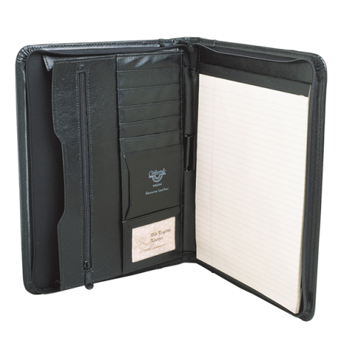 Waterville WB32A4 Zipper Note Holder Black - Free Shipping.