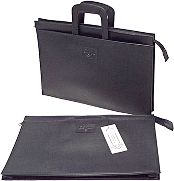 Waterville WS20 Portfolio Satchel With Retractable Handles Black