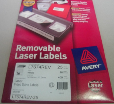 AVERY- REMOVABLE LASER LABELS