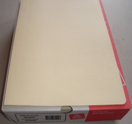 Avery 81502 Buff Manilla Folder Foolscap Box 100