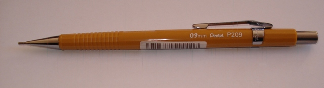 Pentel P209 0.9mm Auto Drafting Pencil Mustard - Free Shipping.