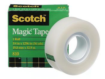 Scotch 810 Magic Tape 18mm x 33M Boxed roll
